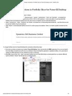 How to change connections in Portfolio Slicer for Power BI Desktop model - Portfolio Slicer