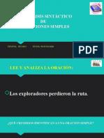 ANÁLISIS SINTÁCTICO DE ORACIONES SIMPLES