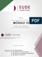 Plan de trabajo - M10 Gestión Contable