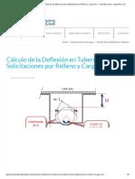 Cálculo de la Deflexión en Tuberías por Efecto de las Solicitaciones por Relleno y Carga Viva – Tutoriales al Día – Ingeniería Civil
