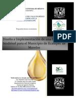 Diseño e Implementación de una Planta de biodiesel en el Municipio de Ecatepec
