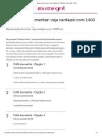 Reeducação alimentar_ veja cardápio com 1400 kcal - Bem Estar - GNT