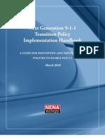 NG911 Transition Policy Implementation Handbook_FINAL