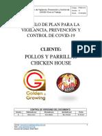 Modelo de Plan para la Vigilancia, Prevención y Control de COVID 19 Cliente  Pollería - POLLOS Y PARILLAS CHICKEN HOUSE (1).pdf