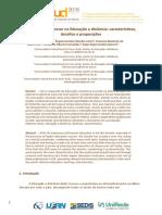 O papel do Professor na Educação a distância características, desafios e proposições