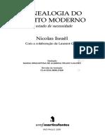 ISRAËL, Nicolas. Genealogia do direito moderno - o estado de necessidade