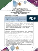 Guía de actividades y rúbrica de evaluación - Caso 1 - Relato autobiográfico