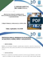 PROTOCOLO PARA EL ABORDAJE DE SITUACIONES DE MALTRATO A NIÑAS NIÑOS Y ADOLESCENTES 3 SEP DE 2020.pptx