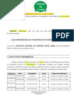 MODELO - APOSENTADORIA ESPECIAL FRENTISTA