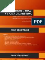 HISTORIA DEL  ATLETISMO - GRUPO A