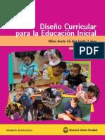 45 días hasta 2 años ENFOQUE DIDACTICO Diseño Curricular para la Educación Inicial 2016