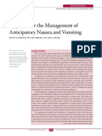 Hypnosis for the Management of Anticipatory Nausea and Vomiting