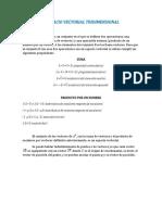 ESPACIO VECTORIAL TRIDIMENSIONAL Y LINEAS RECTAS