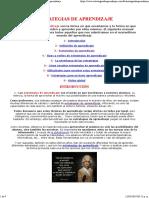 Estrategias de aprendizaje,tipos de estrategias de aprendizaje