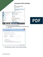 Creating Native VPN in Windows