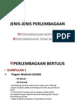 JENIS-JENIS PERLEMBAGAAN