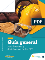 Guia General para Limpieza y Desinfeccion de EPP
