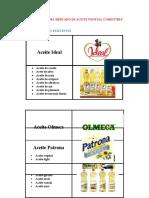 COMPOSICIÓN DEL MERCADO DE ACEITE VEGETAL COMESTIBLE