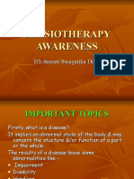 PHYSIOTHERAPY  AWARENESS