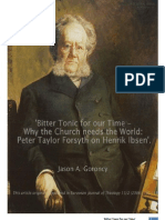 'Bitter Tonic for our Time – Why the Church Needs the World