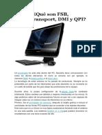Que son FSB Hypertransport DMI y QPI
