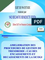 AMELIORATION DES PROCEDUS DE GESTION DE TRESORERIE