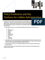Policy Predictions for a Biden Administration