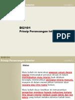 Inroduksi - Prinsip Perancangan Interior