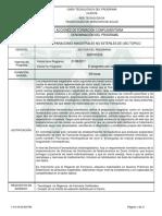Informe Programa de Formación Complementaria PREPARACIONES MAGISTRALES