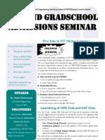 GRE Seminar Flyer