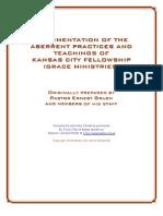 """""""Abberent Practises"""" of the Kansas City Prophets by Ernie Gruen"""