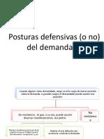 Posturas defensivas del demandado