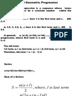 4. Arithmetic and Geometric Progression