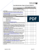 Seattle King County Checklist for Child Care Administrators Steps to Prevent COVID-19