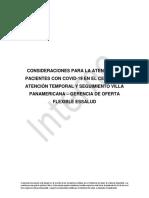 Consideraciones para la atención de pacientes COVID-19