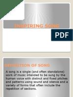 INSPIRING SONG
