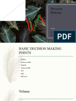 Decision Making-Stock trading