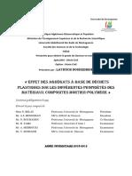 M5-Effet des agrégats à base de déchets plastiques sur les différentes propriétés des matériaux composites