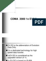 CDMA 2000 1x EVDO