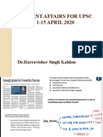 CURRENT AFFAIRS FOR UPSC APR 1-15 2020