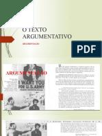 O TEXTO ARGUMENTATIVO - EXAME.pptx