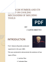 REYNOLDS NUMBER AND ITS EFFECT ON COOLING MECHANISM OF MOLDING TOOLS
