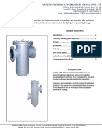 O&M manual for simplex strainers
