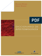 Diccionario de epistemologiaº
