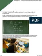 Corona_Deutsche Schulen und Elearning_Artikel