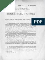 (Madrid, 1888) Santiago Ramón y Cajal - Estructura de los centros nerviosos de las aves.pdf
