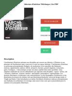 Les fondamentaux de l'architecture d'intérieur Télécharger, Lire PDF