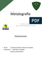 Clase 1 y 2 metalografia