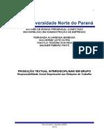 Artigo 3º e 4° Semestre GOVERNADOR VALADARES- MG