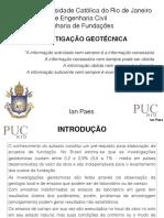 ENG 1228 Fundações - Investigação Geotécnica -1